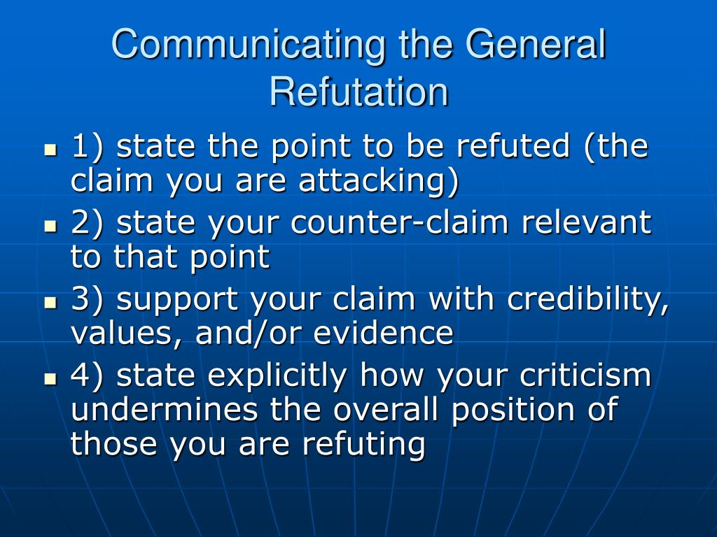 Communicating the General Refutation