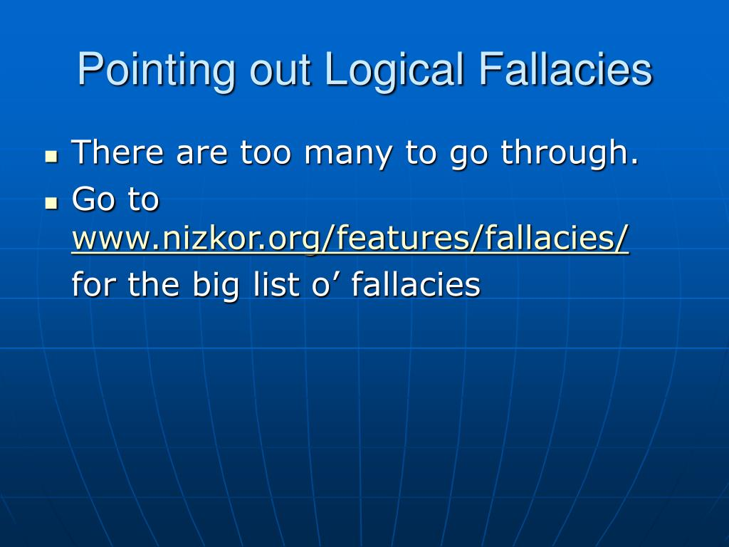 Pointing out Logical Fallacies