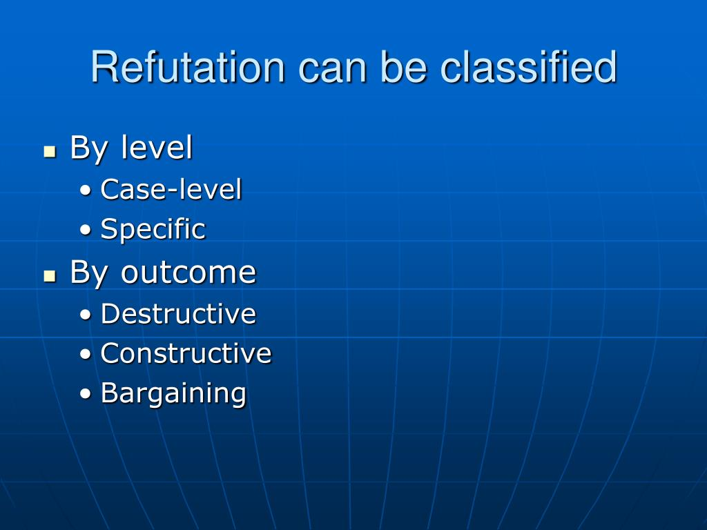 Refutation can be classified