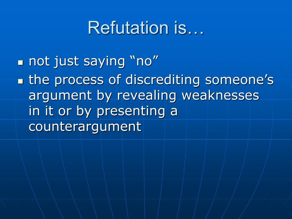Refutation is…