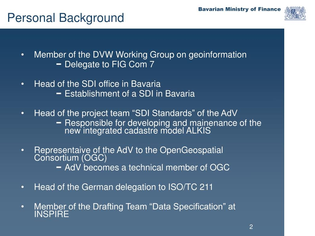 Member of the DVW Working Group on geoinformation