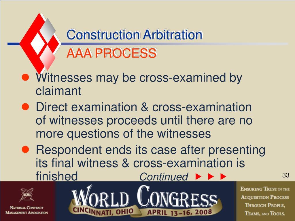 Construction Arbitration