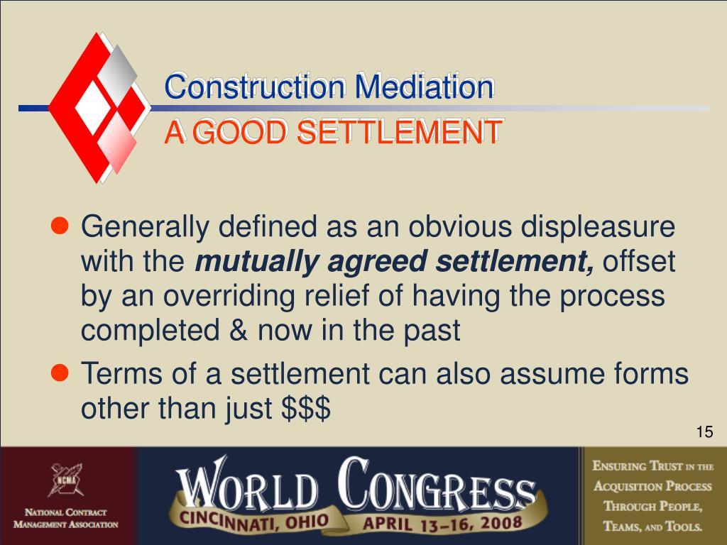 Construction Mediation