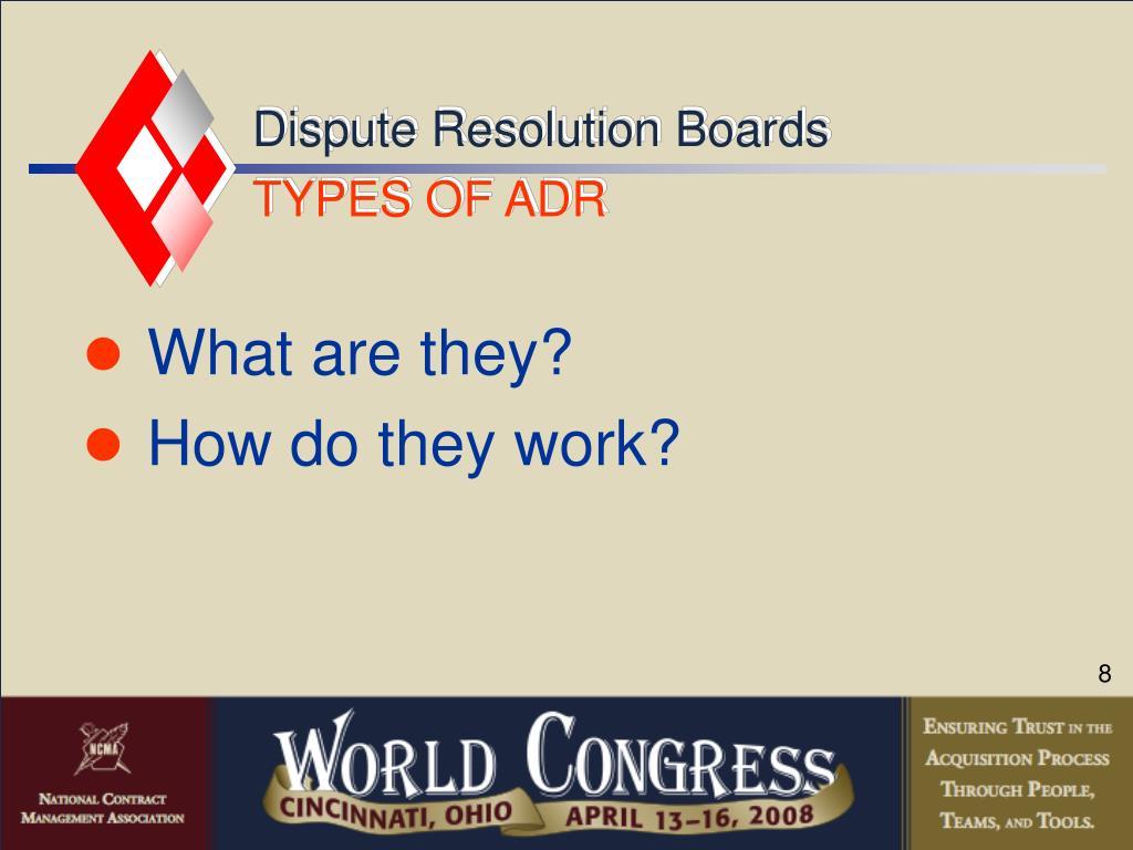 Dispute Resolution Boards