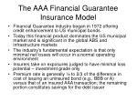 the aaa financial guarantee insurance model