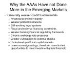 why the aaas have not done more in the emerging markets