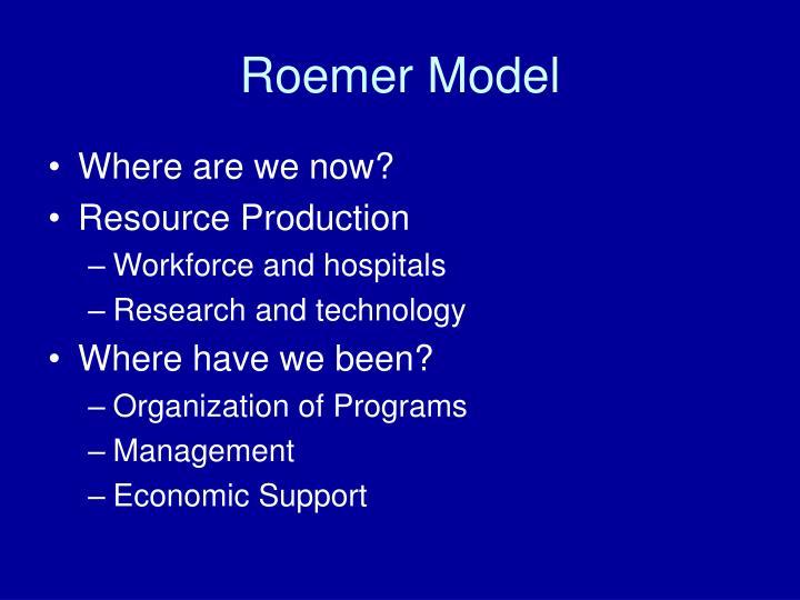 Roemer model