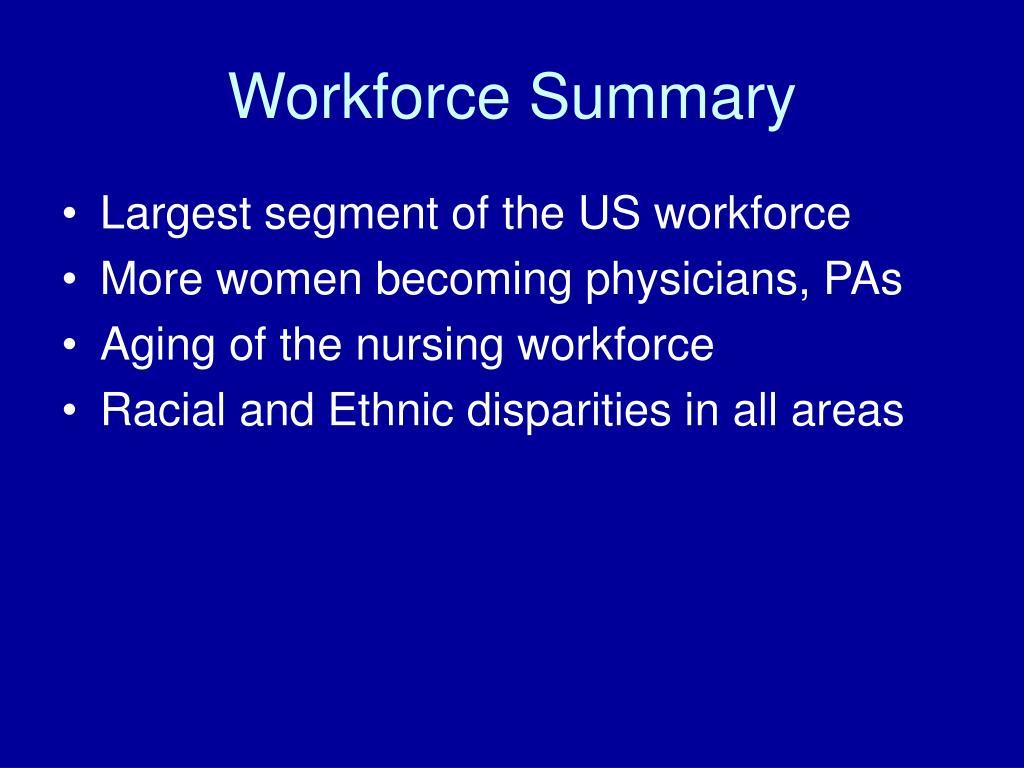 Workforce Summary