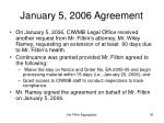 january 5 2006 agreement