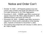 notice and order con t