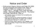 notice and order