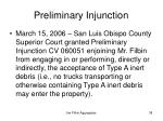 preliminary injunction