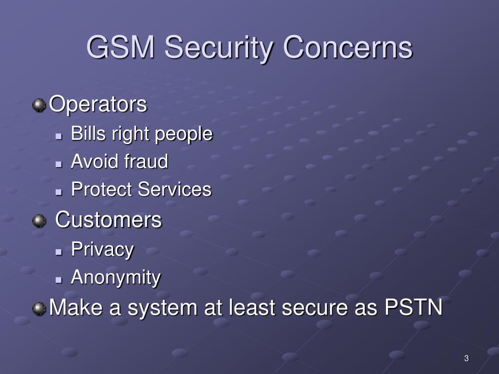 GSM Security Concerns