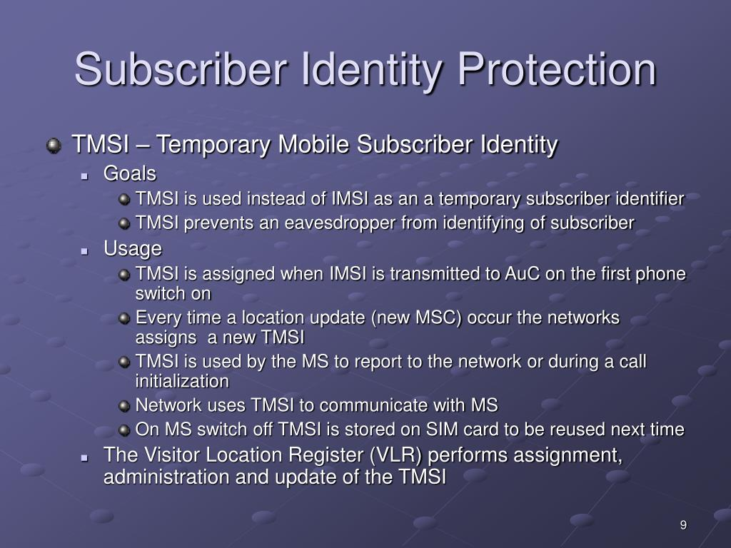 Subscriber Identity Protection