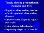 tilapia shrimp production in ecuador and peru