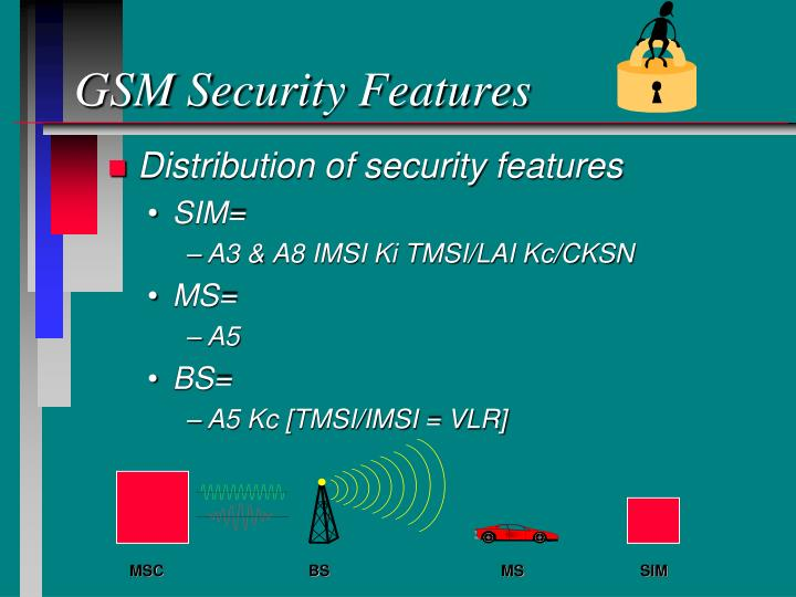 Gsm security features