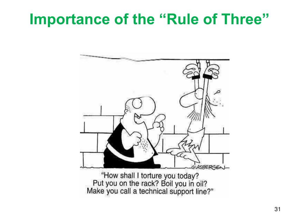 "Importance of the ""Rule of Three"""