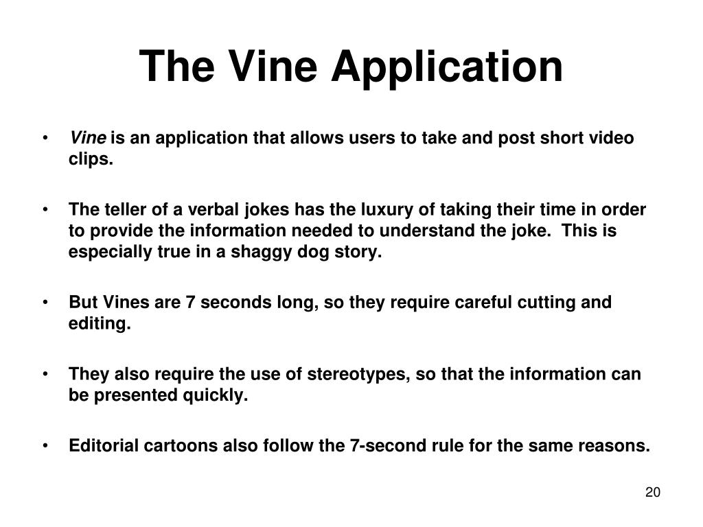 The Vine Application