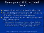 contemporary life in the united states