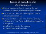 issues of prejudice and discrimination