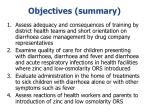 objectives summary