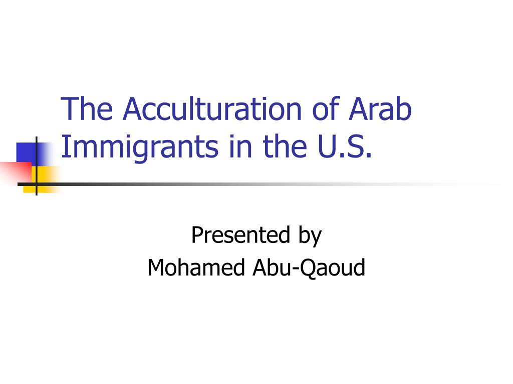 the acculturation of arab immigrants in the u s