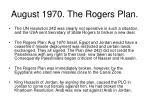 august 1970 the rogers plan