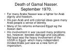 death of gamal nasser september 1970