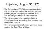 hijackiing august 30 1970