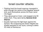 israel counter attacks