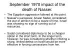september 1970 impact of the death of nasser