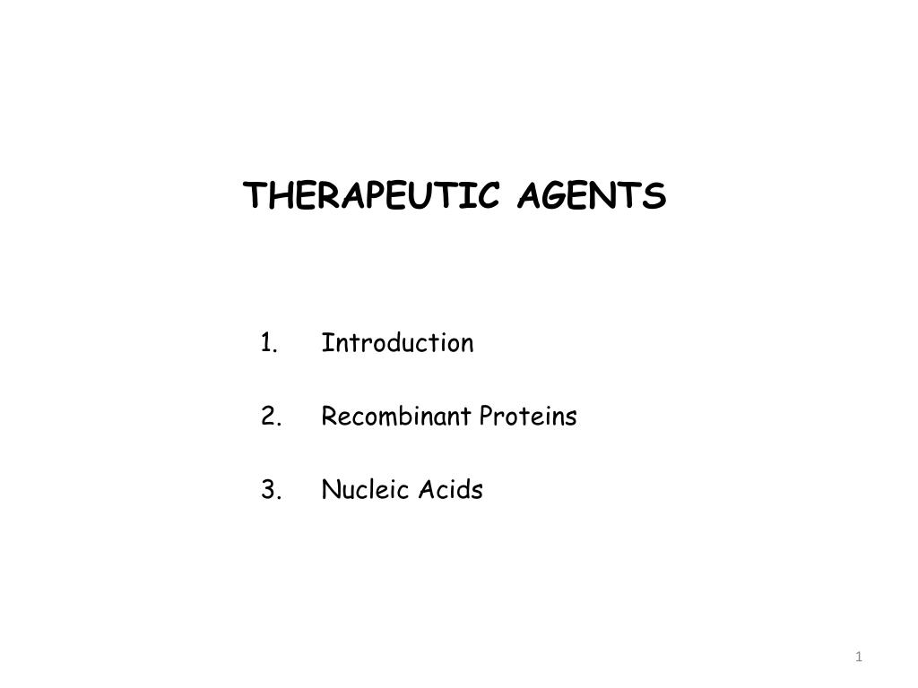 therapeutic agents l.