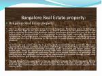 bangalore real estate property