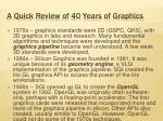 a quick review of 40 years of graphics