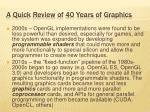 a quick review of 40 years of graphics1
