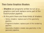 then came graphics shaders