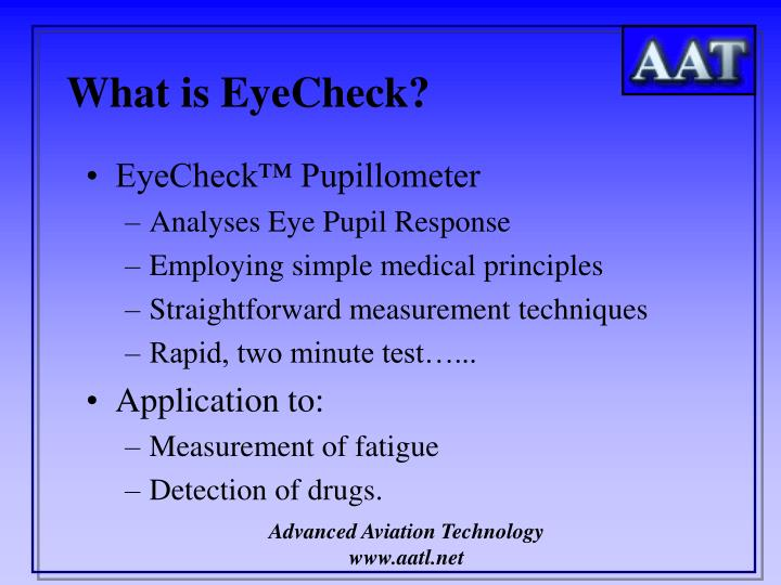 What is eyecheck