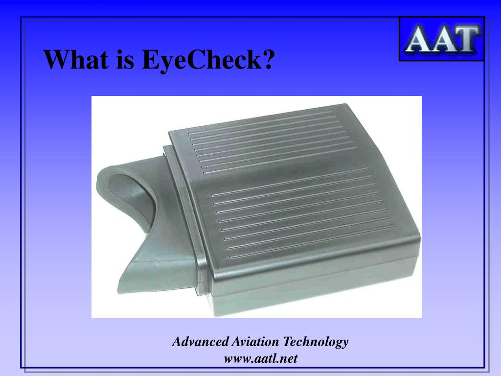 What is EyeCheck?