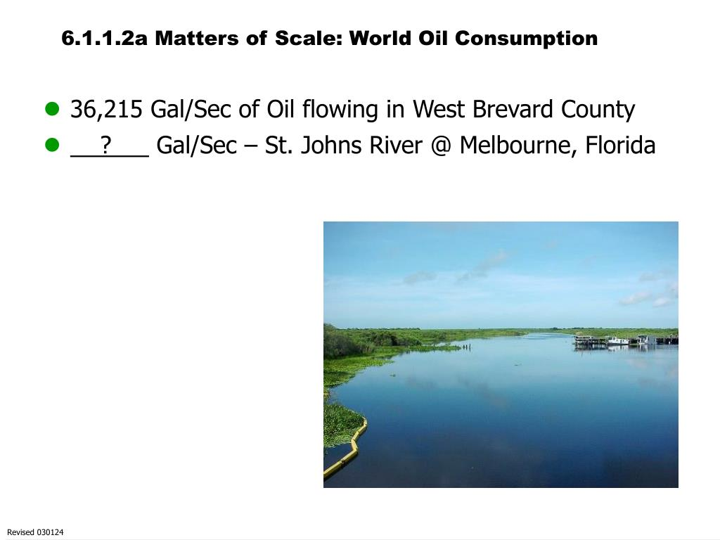6.1.1.2a Matters of Scale: World Oil Consumption