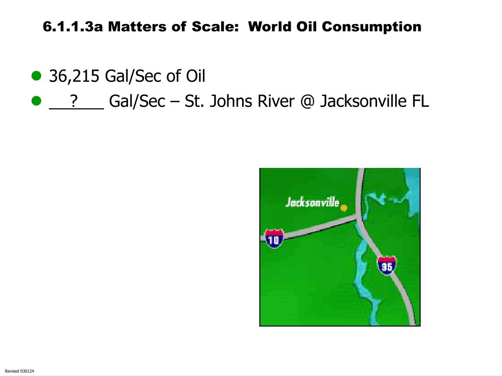 6.1.1.3a Matters of Scale:  World Oil Consumption