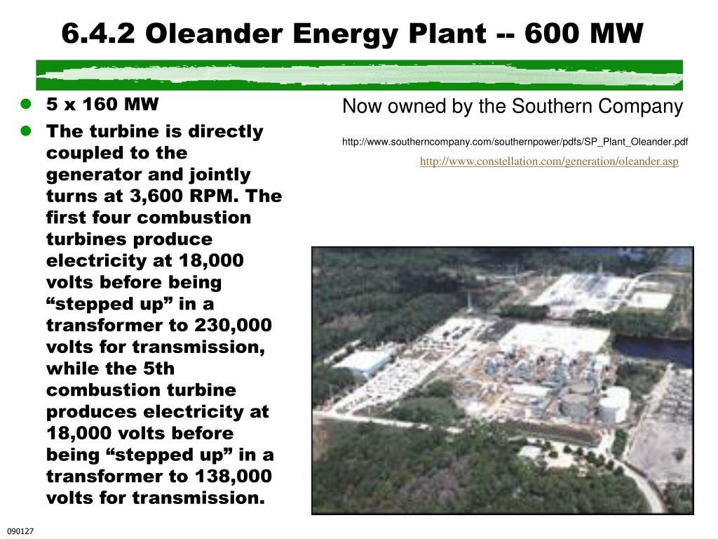 6.4.2 Oleander Energy Plant -- 600 MW