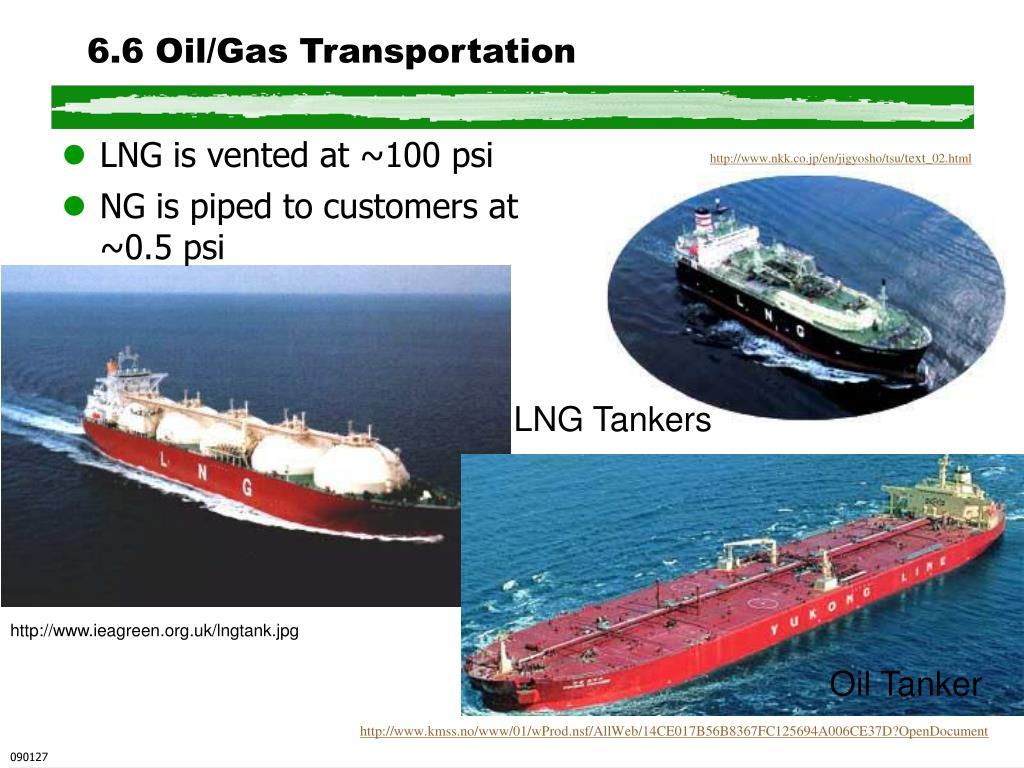 6.6 Oil/Gas Transportation