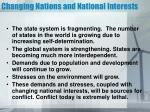 changing nations and national interests