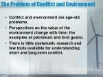 the problem of conflict and environment