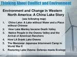 thinking about conflict and environment