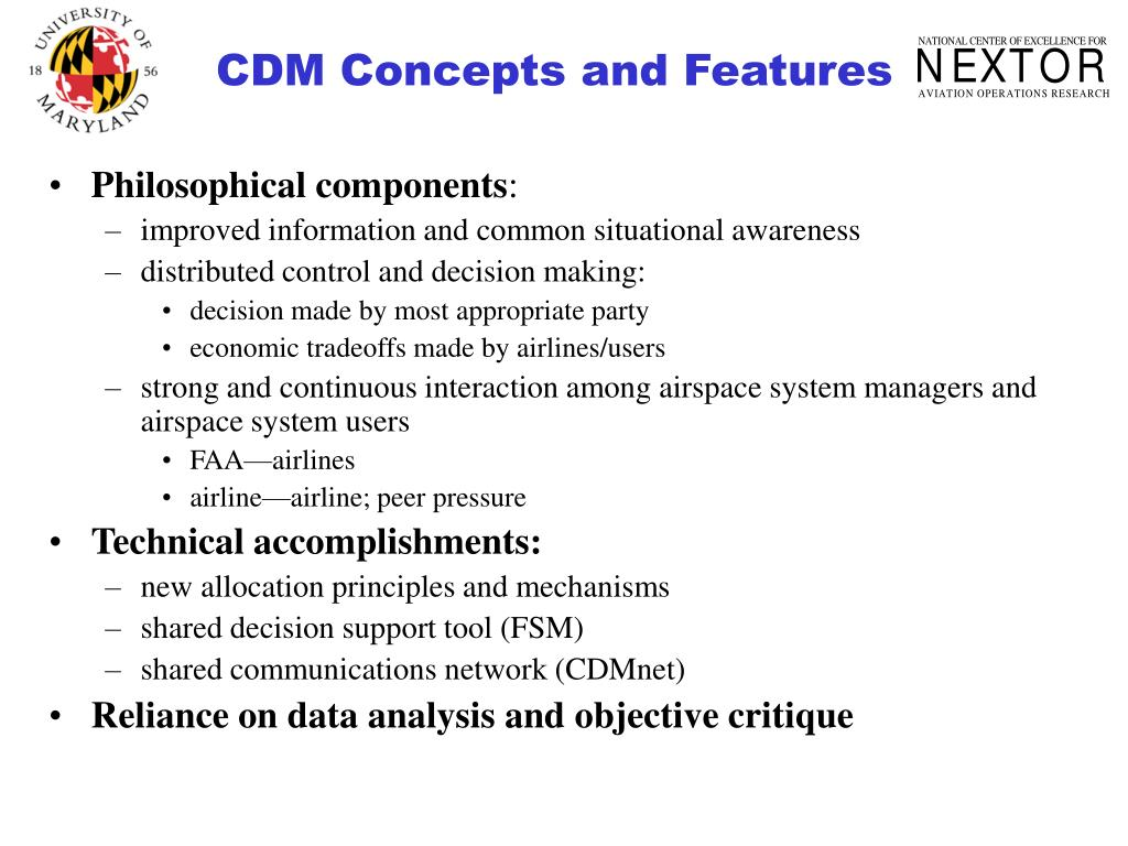 CDM Concepts and Features