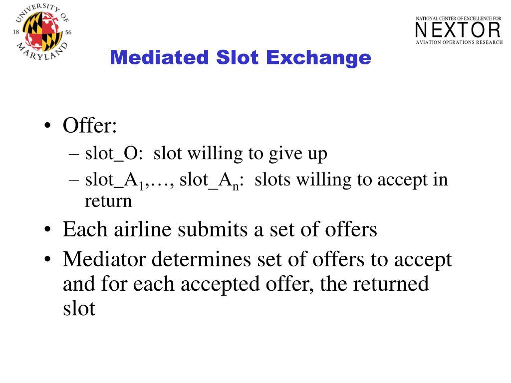 Mediated Slot Exchange