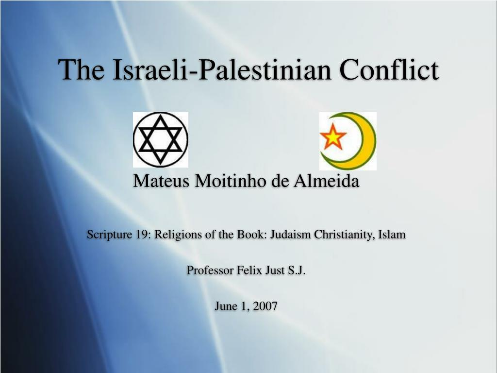 the israeli palestinian conflict l.
