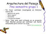 arquitectura del paisaje i 7mo semestre grupo 1