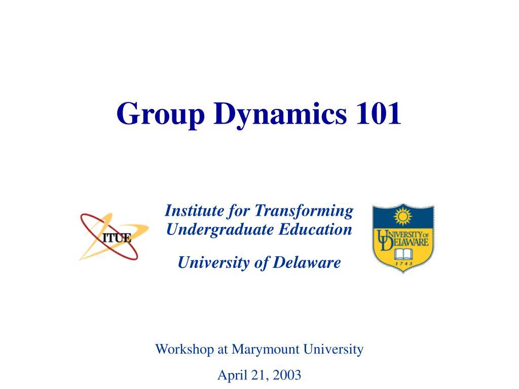group dynamics 101 l.